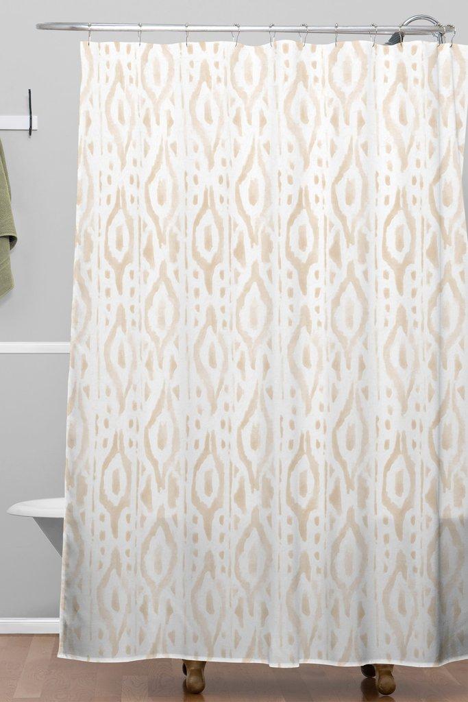 Desert Linen Woven Shower Curtain