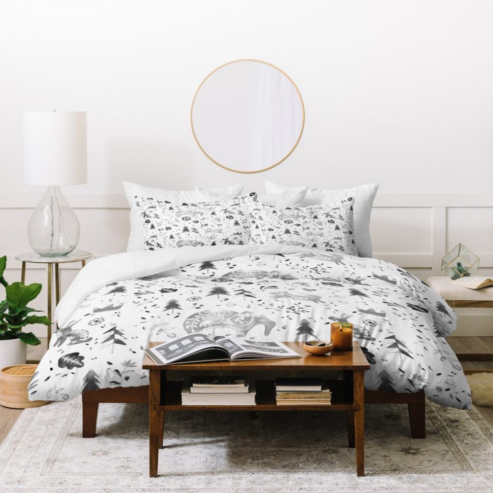 Folky Forest Duvet Cover