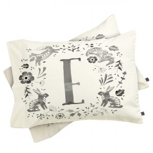 wonder-forest-folky-forest-monogram-letter-e-pillowcase