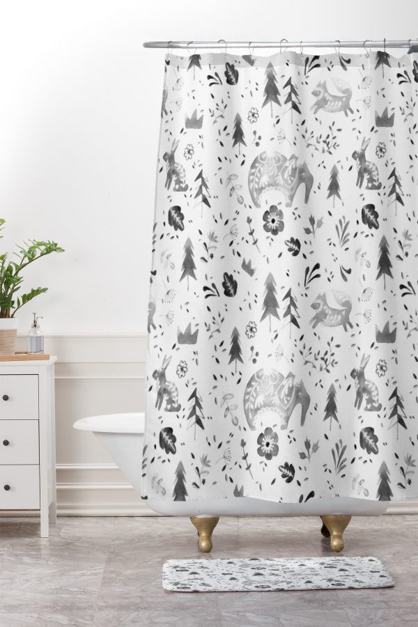 Folky Forest Shower Curtain