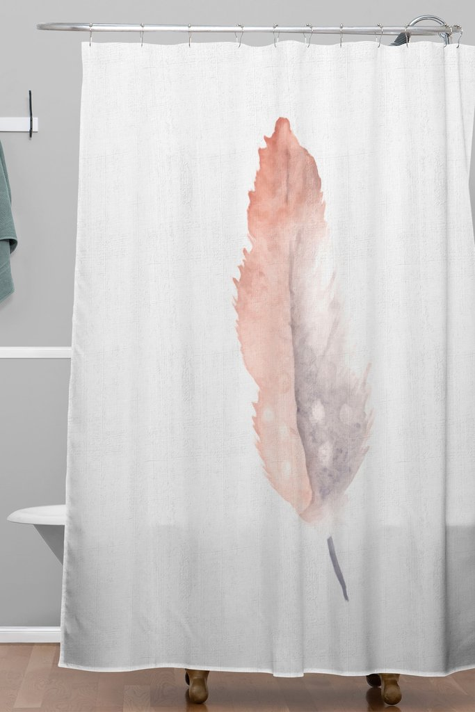 Freedom Feather Woven Shower Curtain