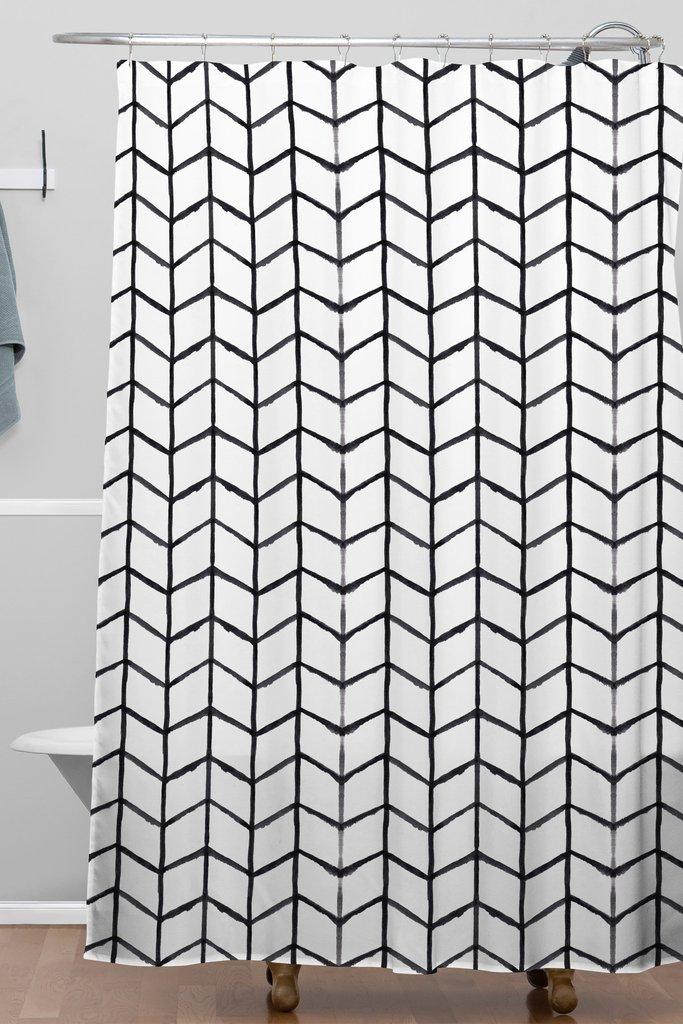 Grid Lock Woven Shower Curtain