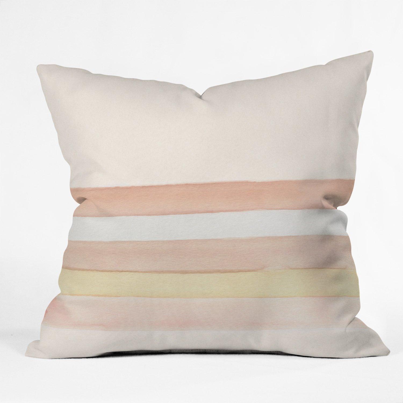 She Said Stripes Throw Pillow