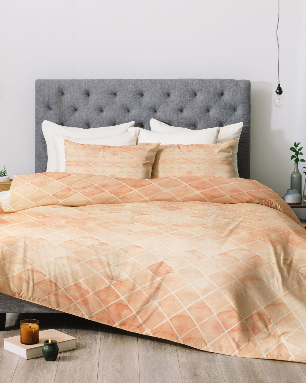 Diamond Watercolor Grid Comforter by Wonder Forest