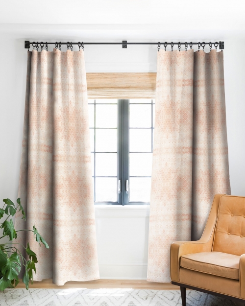 Diamond Watercolor Grid Blackout Curtains by Wonder Forest