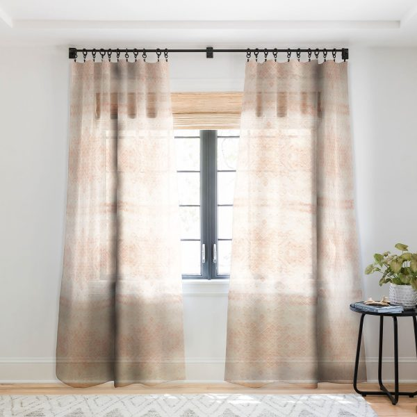 Diamond Watercolor Grid Sheer Curtains by Wonder Forest