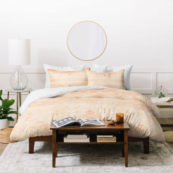 Diamond Watercolor Grid Duvet Cover by Wonder Forest