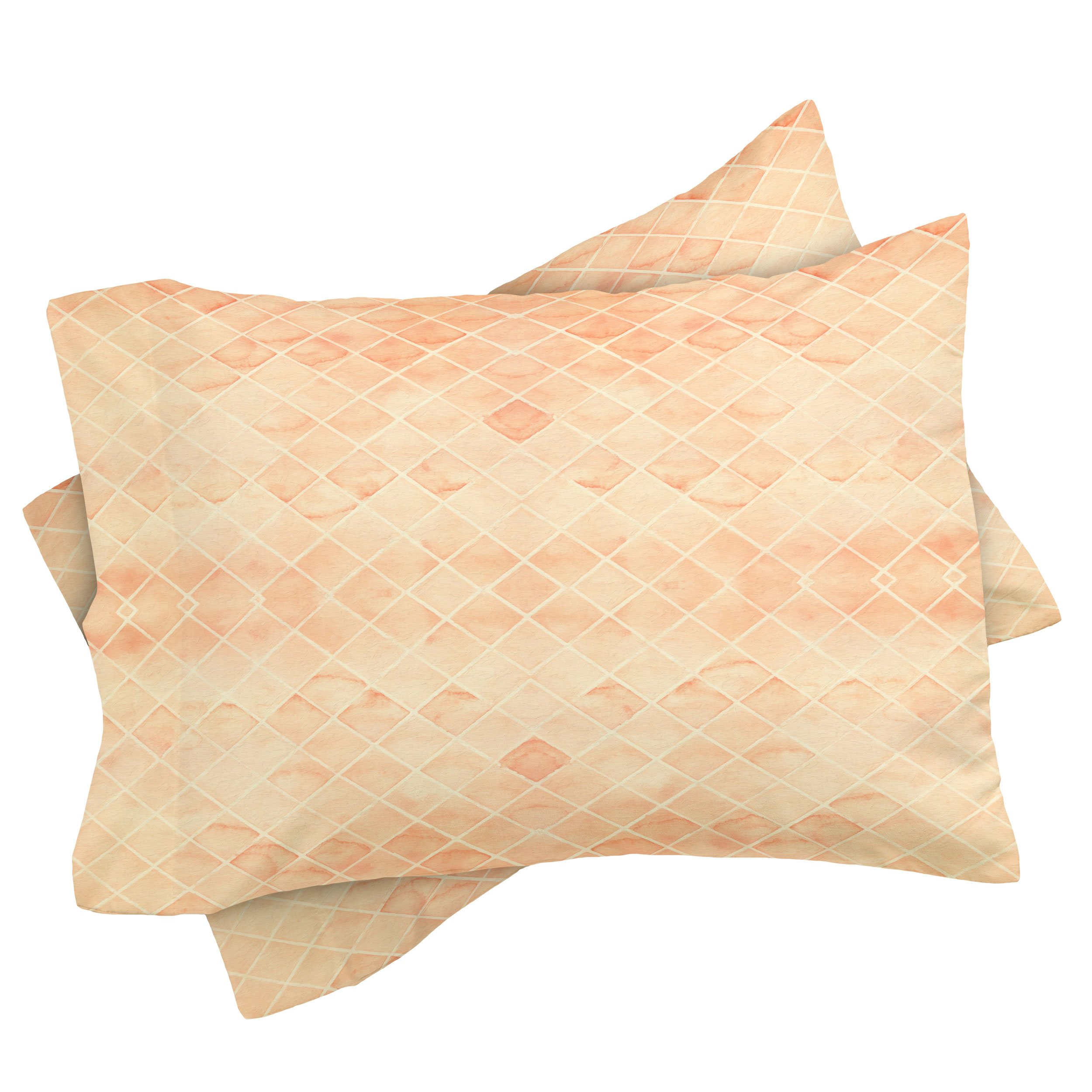 Diamond Watercolor Grid Pillow Sham by Wonder Forest