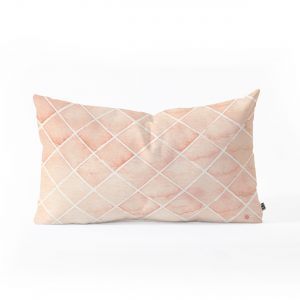 Diamond Watercolor Grid Throw Pillow by Wonder Forest