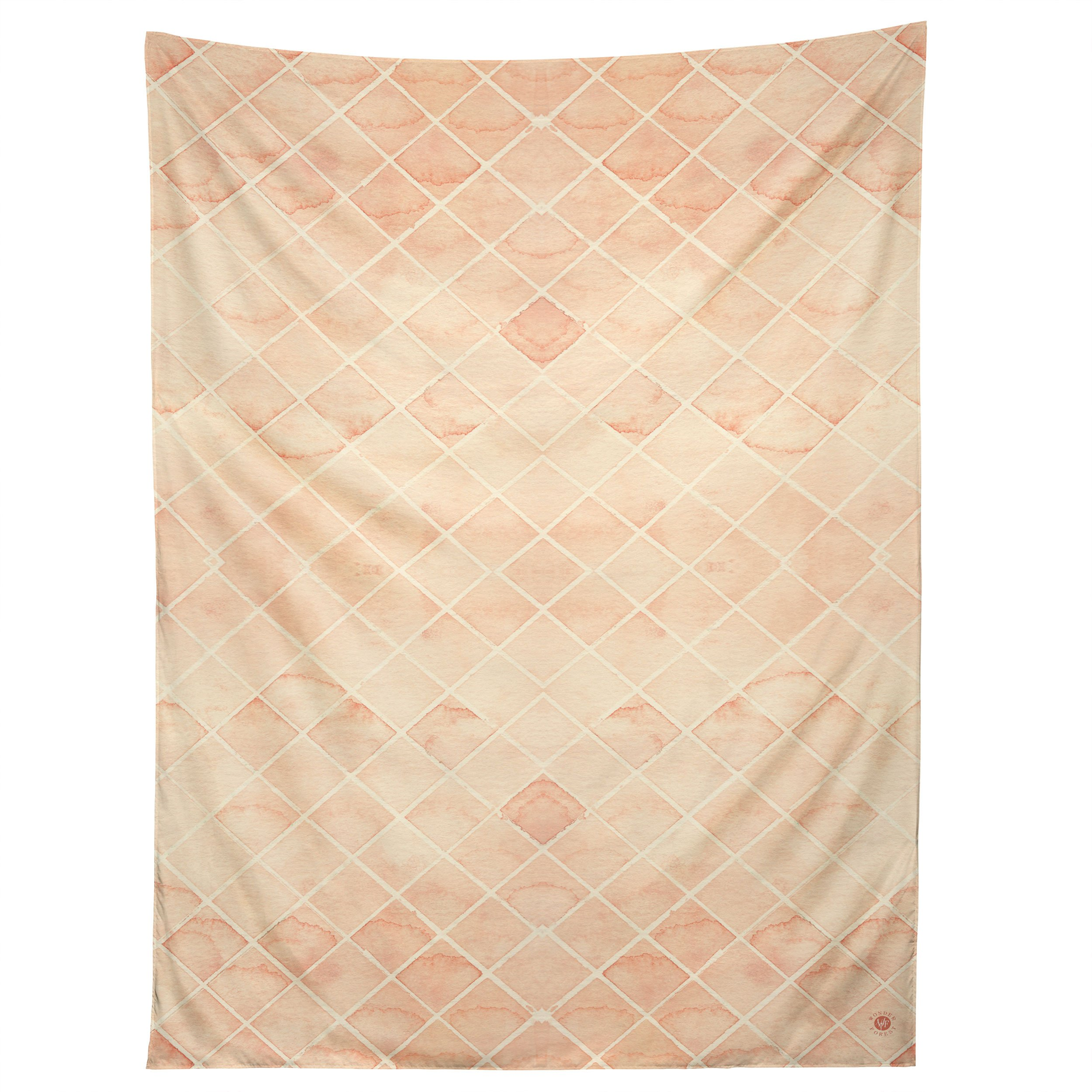 Diamond Watercolor Grid Tapestry by Wonder Forest