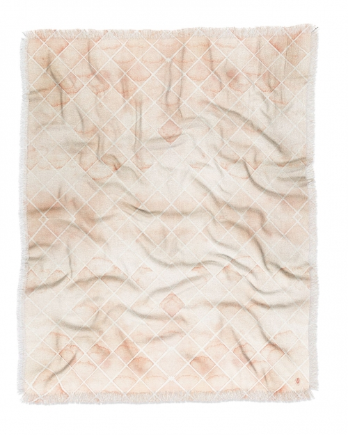 Diamond Watercolor Grid Woven Throw Blanket by Wonder Forest