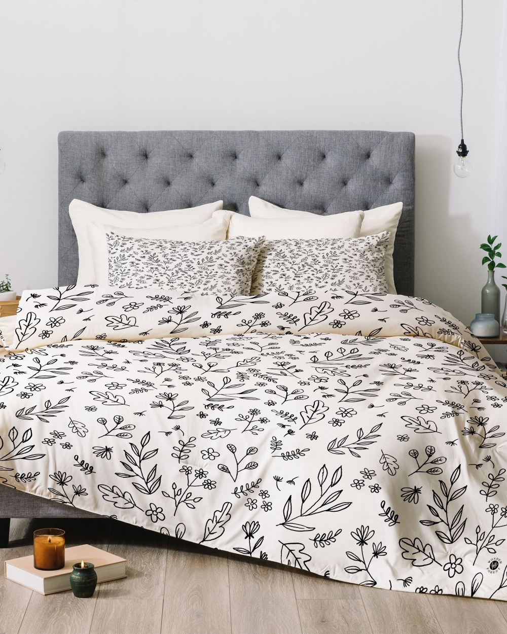 Floral Sketches Comforter by Wonder Forest
