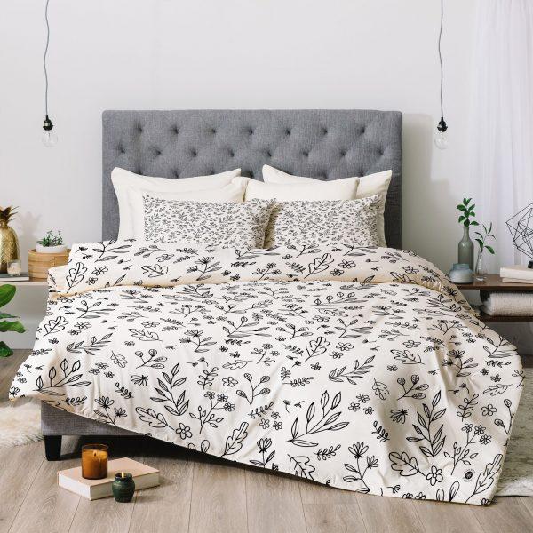 Floral Sketches Comforter by Wonder Forest