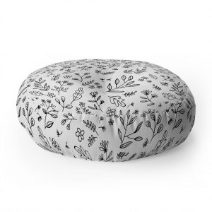 wonder-forest-floral-sketches-floor-pillow-round-white_1024x1024