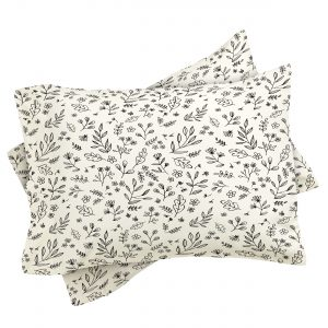 Floral Sketches Pillow Sham by Wonder Forest