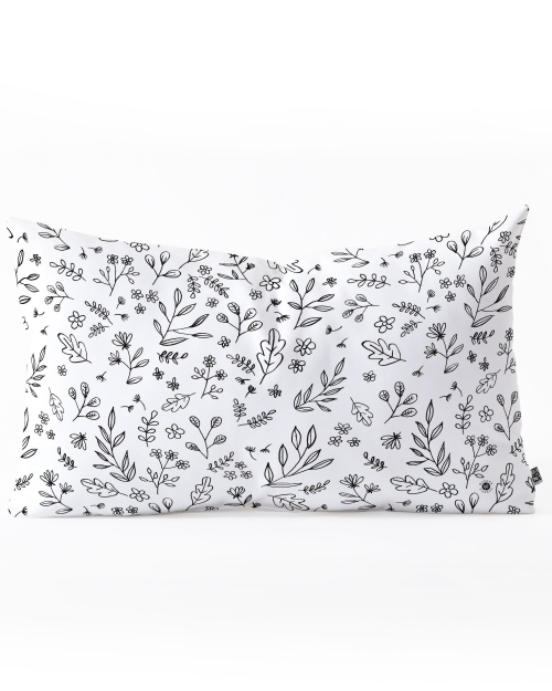 Floral Sketches Throw Pillow by Wonder Forest