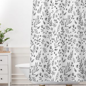 Floral Sketches Shower Curtain by Wonder Forest