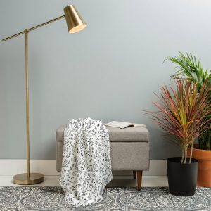 Floral Sketches Woven Throw Blanket by Wonder Forest
