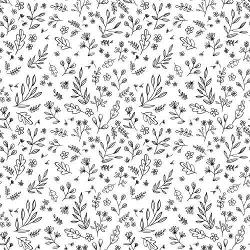 Floral Sketches Duvet Cover by Wonder Forest
