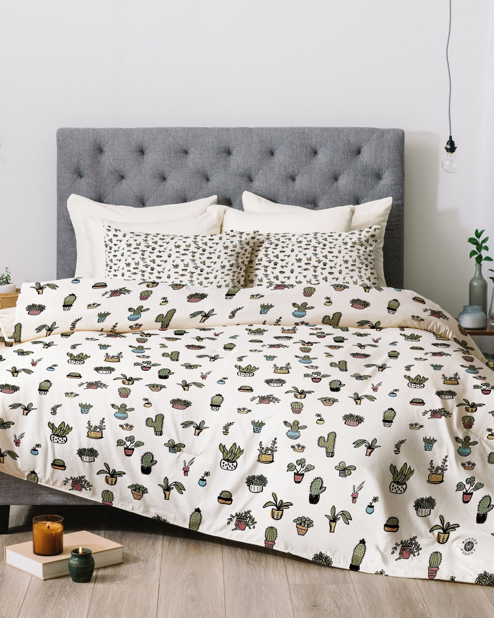 Plant Lady Comforter by Wonder Forest