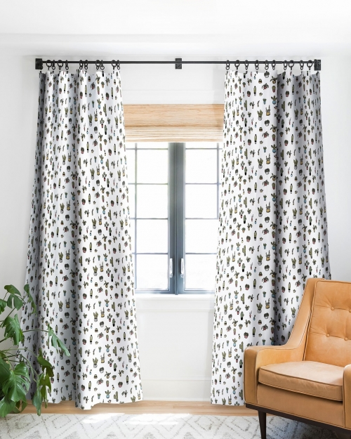 Plant Lady Blackout Curtain Panel by Wonder Forest