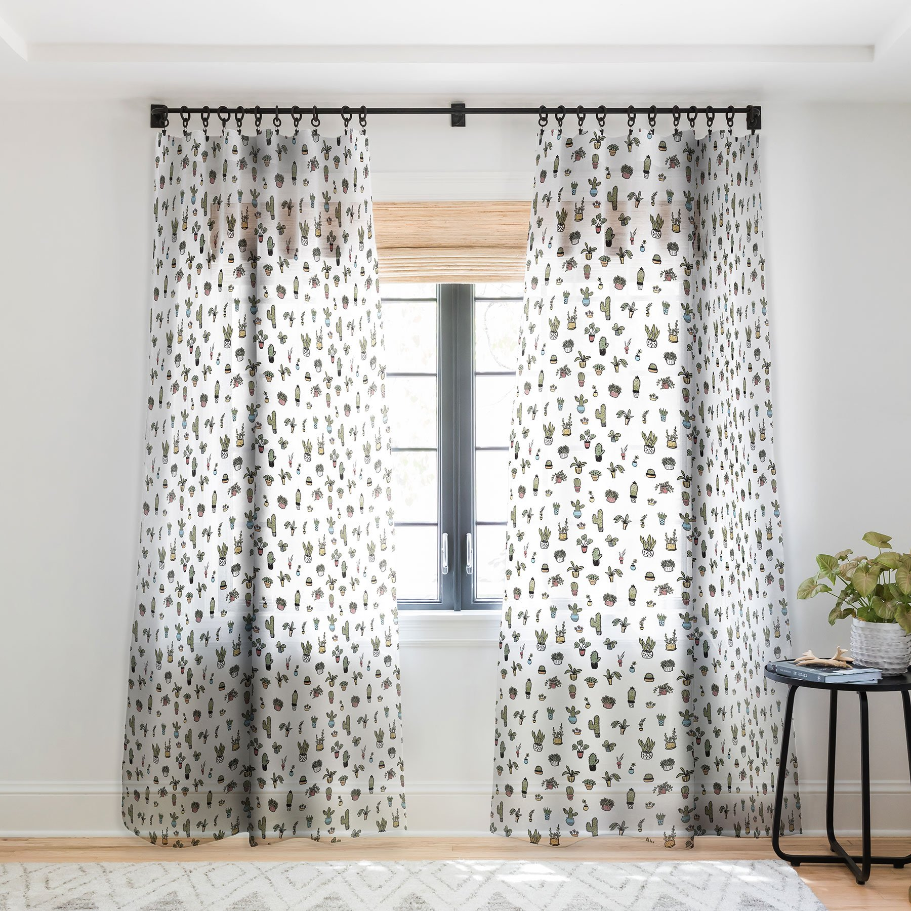 Plant Lady Curtain Panel by Wonder Forest