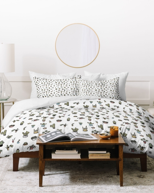 Plant Lady Duvet Cover by Wonder Forest