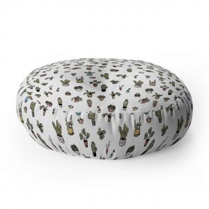 wonder-forest-plant-lady-floor-pillow-round-white