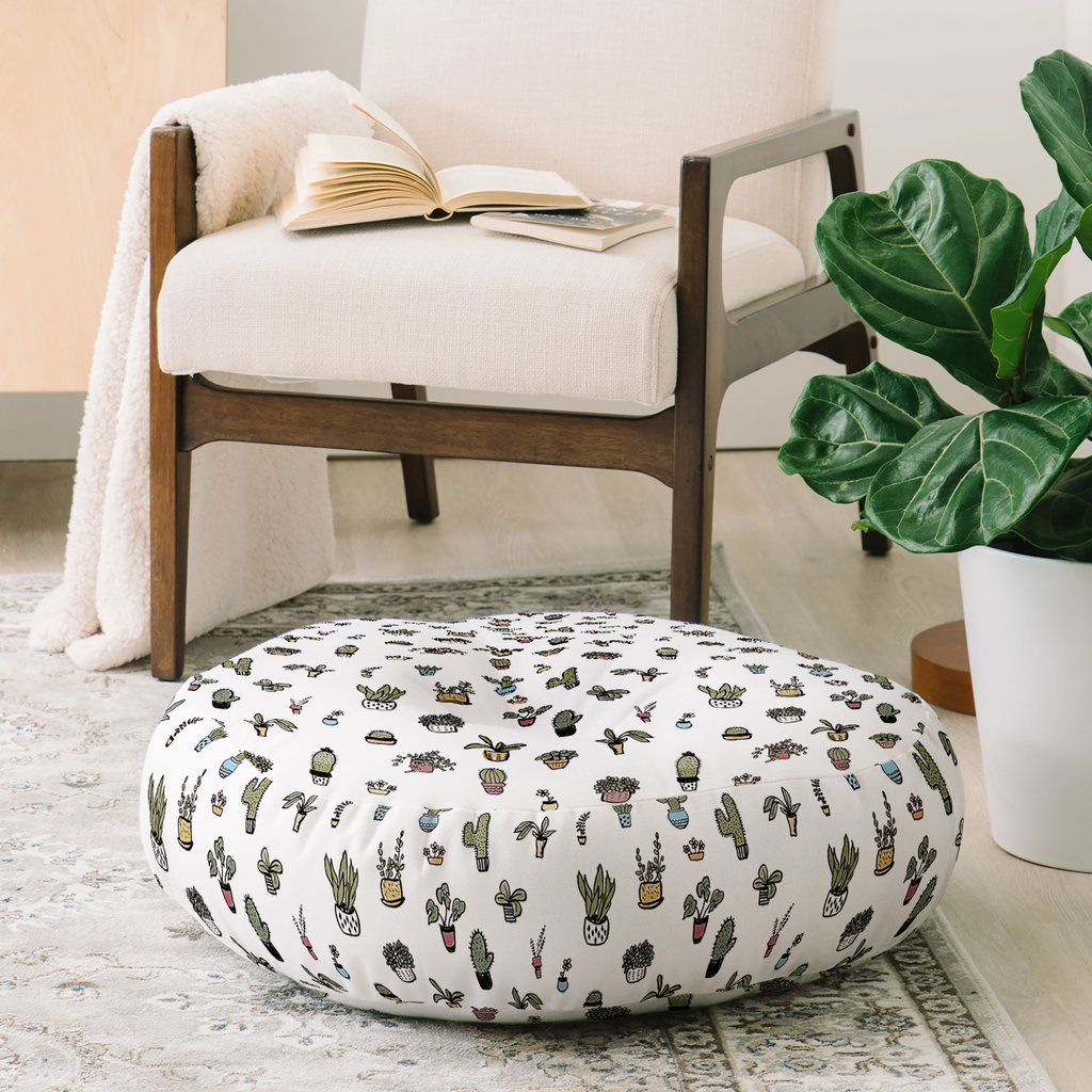 Plant Lady Floor Pillow by Wonder Forest