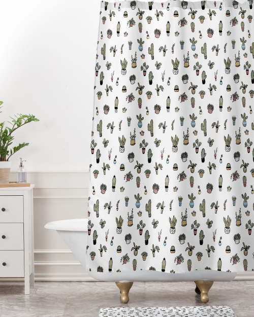 Plant Lady Shower Curtain by Wonder Forest