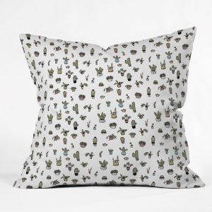Plant Lady Throw Pillow by Wonder Forest