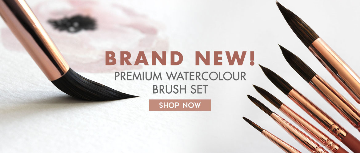 Premium Synthetic Watercolor Brushes